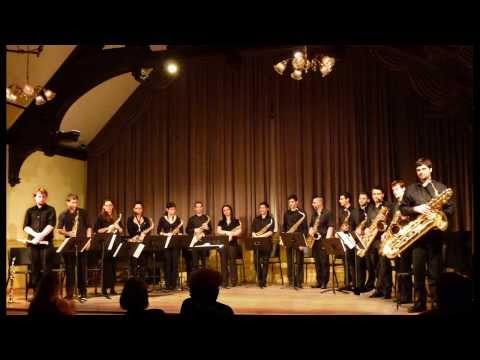 Claudio Gabriele ILLUSTRATION - Saxophone Ensemble, Dennis Shafer Conductor, BOSTON, U.S.A.