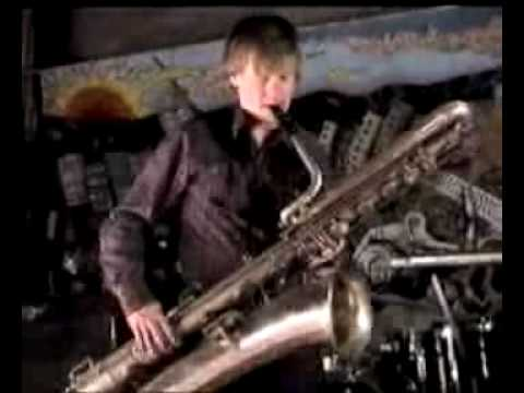 Soloist Dennis Shafer (Saxophone) with collaborators, filmed at Stan Herd's Art Studio