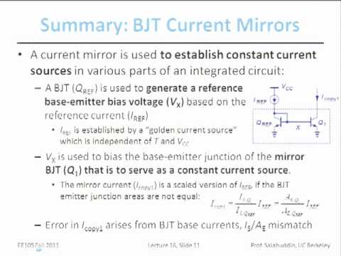 Electrical Engineering 105 - Lecture 16