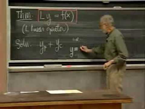 Lec 12   MIT 18.03 Differential Equations, Spring 2006