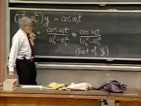 Lec 14   MIT 18.03 Differential Equations, Spring 2006