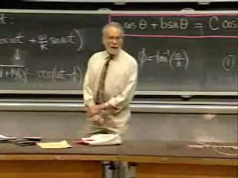 Lec 8   MIT 18.03 Differential Equations, Spring 2006