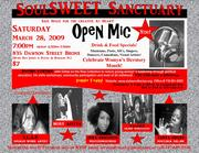 SoulSWEET Sanctuary Open Mic--> All artists welcome!