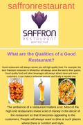 Qualiies of a Good Restaurants