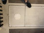 Floor after tank installation