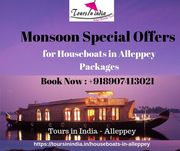 Houseboats Alleppey Monsoon Special Offers from Tours in India