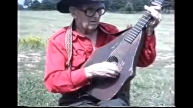 Jimmy Driftwood and his 1880's Homemade guitar