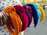 Velvet turban knot