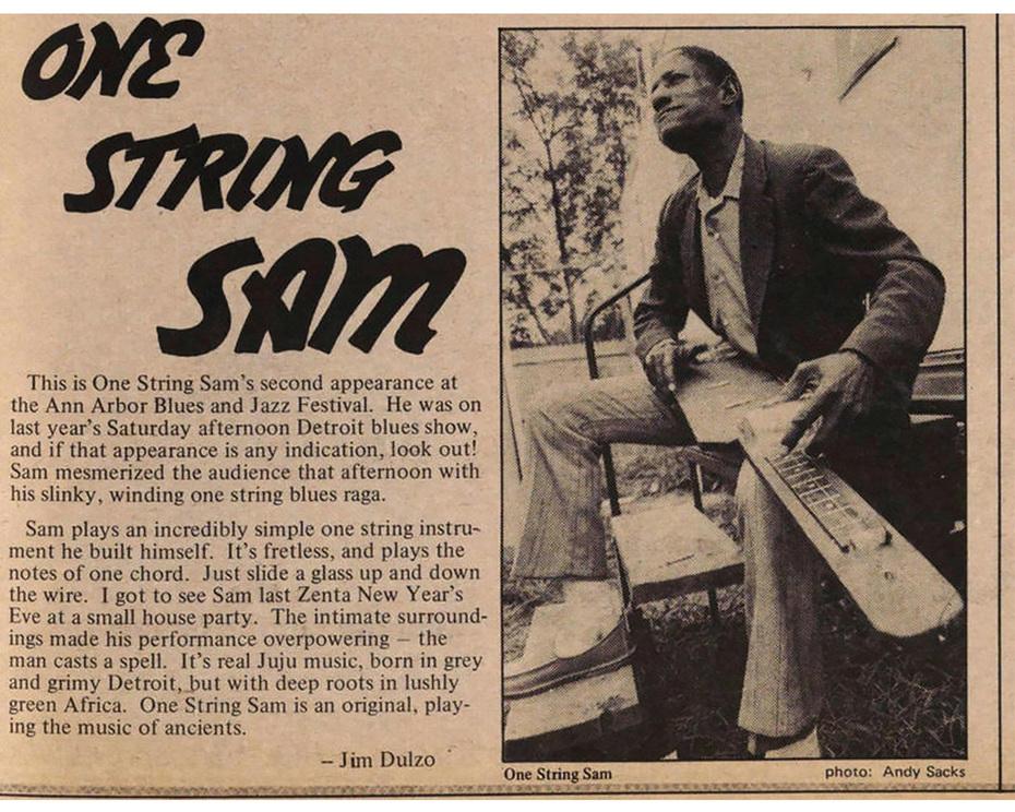 - One String Sam  -