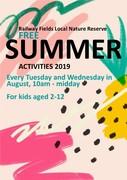 Railway Fields FREE summer activities