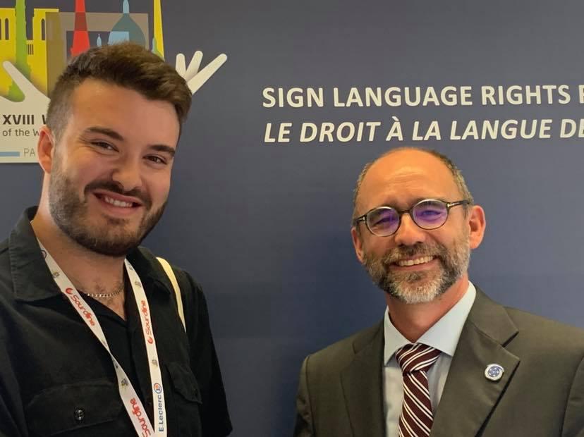 Evian Brière et le nouveau président du congrès