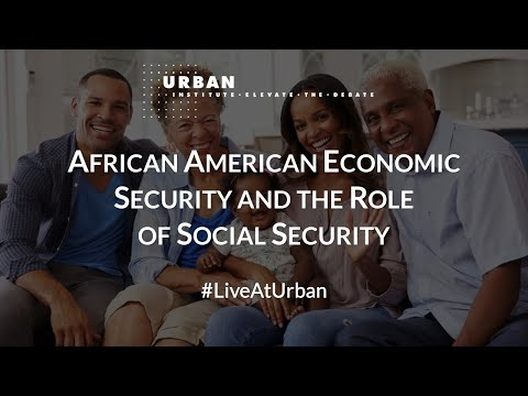 African American Economic Security and the Role of Social Security
