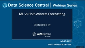 DSC Webinar Series: ML vs Holt-Winters Forecasting