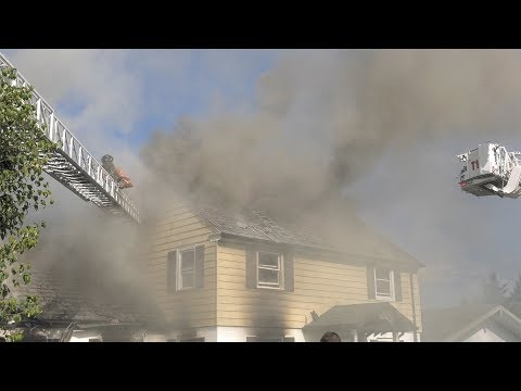 Firefighters battle stubborn house fire in Allentown, Pennsylvania
