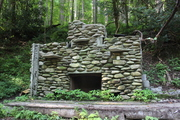 beautiful rock fire place