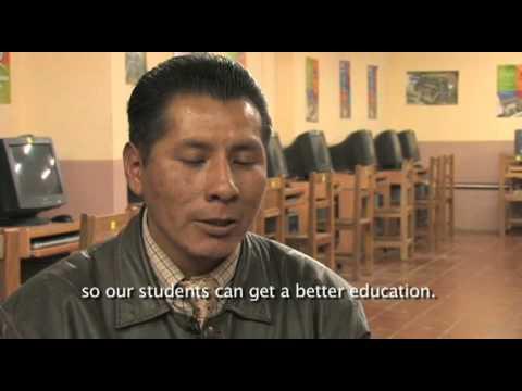 Acceso a las TICs en escuelas rurales de Bolivia