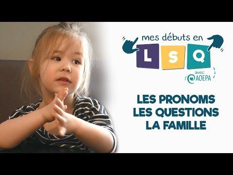 Mes débuts en LSQ... avec l'AQEPA ! #1 : LES PRONOMS, LES QUESTIONS, LA FAMILLE