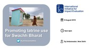 Promoting latrine use for Swachh Bharat, 9 August, New Delhi