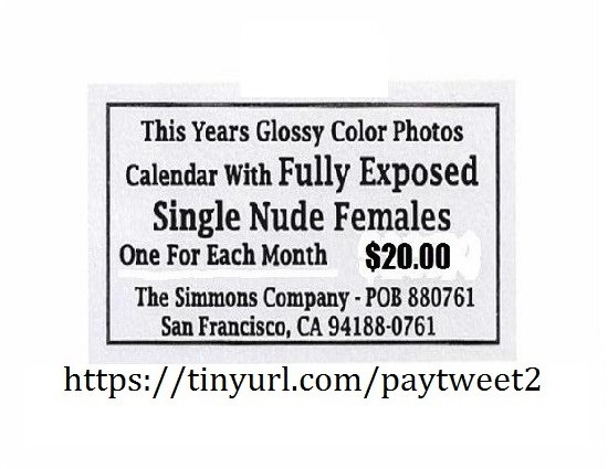 Single Nude Females Calendar