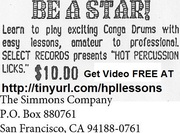 Hot Percussion Conga Drum Music Lessons