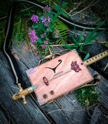 Fox Kestrel Diddley BowMeet the Fox Kestrel, a Diddley bow made from a Conzáles Dávila cigar box, with both piezo and magnetic pickup. Handmade handle, leg support and knobs made from beech. The neck
