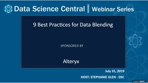 DSC Webinar Series: 9 Best Practices for Data Blending