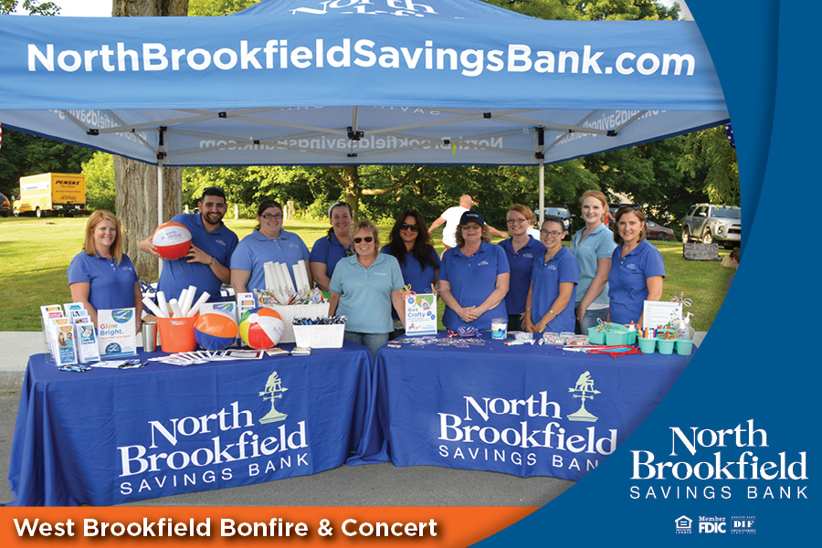 North Brookfield Savings Bank proudly sponsors the West Brookfield Bonfire & Concert