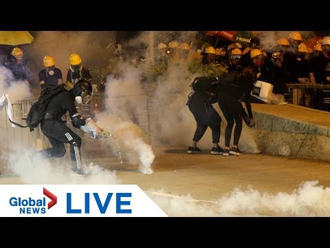 Police, protesters continue to clash in Hong Kong | LIVE
