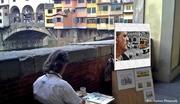Ένα πορτρέτο στο Ponte Vecchio