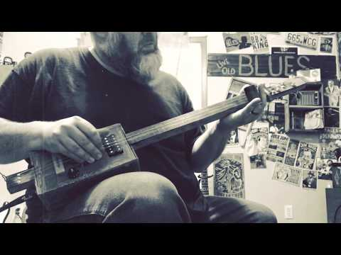 Still Livin' the Blues Vintage Cigar Box Guitar Demo with Musiclily Humbucker pickup