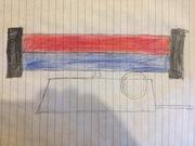 Multicolor Strawberry/blue wave machine model 972 by Lava World