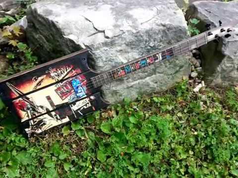 Googie wasteland swamp witch guitar