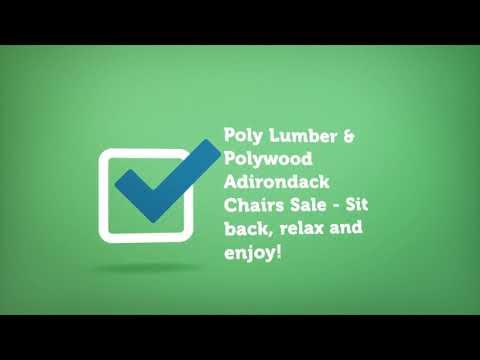 Polywood Adirondack Chairs Sale | Premium Poly Patios :  (877-904-1234)