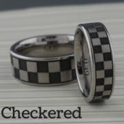 Checkered Flag Wedding Ring