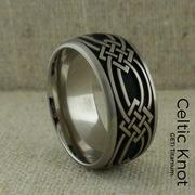 Celtic Weave Titanium Wedding Ring