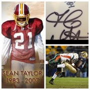 Redskins team signed ball with SEAN TAYLOR. RIP