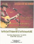 Concert Sept, 1st 2019 6;00 PM 2019