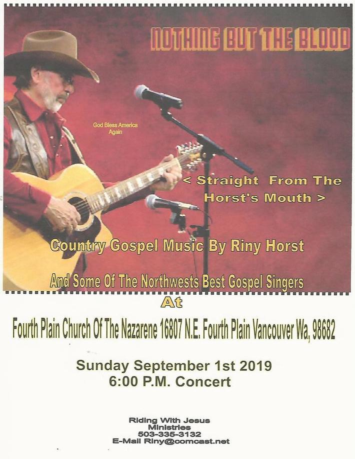 Riny Horst Concert Nazarene Church Vancouver 2019 FB