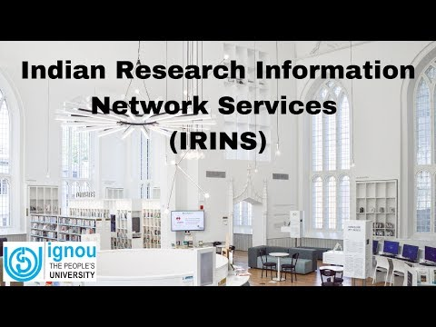 IRINS-Indian Research Information Network System | ARPIT | IGNOU | Dr. Jagdish Arora