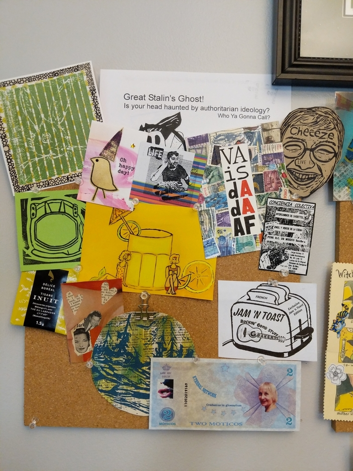 Mail Art Pinboard Left