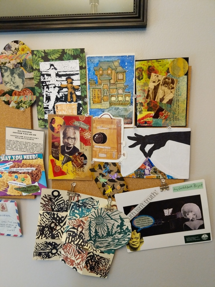 Mail Art Pinboard Right
