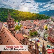 Vacaciones en Alsacia, Alto Rin y  Selva Negra. Del 4 al 10 de septiembre
