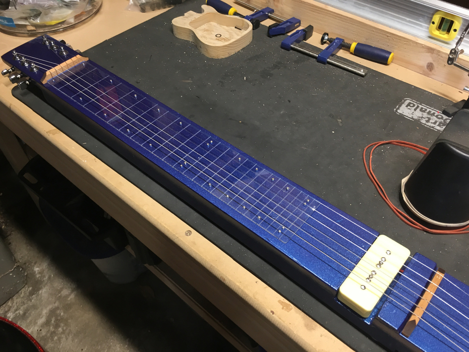 Almost done with my first lap steel