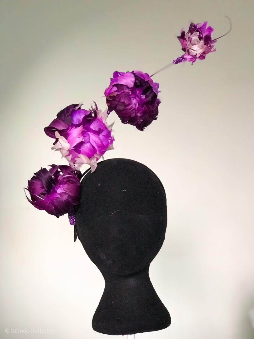 peonie feather fascinator