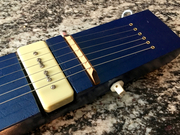 Finishing touches on the lap steel