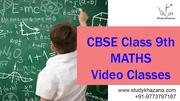 CBSE Class 9th Maths Video Classes By Studykhazana