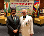 Sandeep Marwah Special Guest at National day Comoros