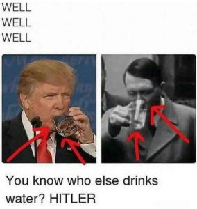 Trump-Hitler-Water