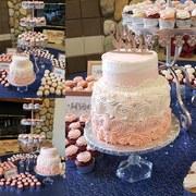 Rosette Cake & Cupcakes