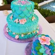 Buttercream Beach themed cake